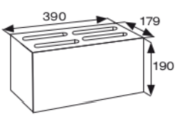 Wymiary pustak betonowy konstrukcyjny CJ BLOK PB AQ-17,9