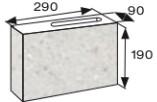 Wymiary pustak elewacyjny CJ BLOK PBE-9-1-N3/4