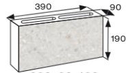 Wymiary pustak elewacyjny CJ BLOK PBE-9-1