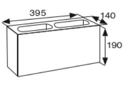Wymiary pustak betonowy konstrukcyjny CJ BLOK PBK-14