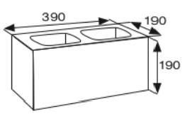Wymiary pustak betonowy konstrukcyjny CJ BLOK PBK-19