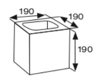 Wymiary pustak betonowy konstrukcyjny CJ BLOK PBK-19/19