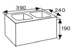 Wymiary pustak betonowy konstrukcyjny CJ BLOK PBK-24
