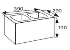 Wymiary pustak betonowy konstrukcyjny CJ BLOK PBK-29