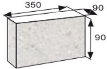 Wymiary palisada łupana CJ BLOK 35cm BBE-9-N3/4