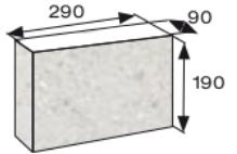 Wymiary palisada łupana CJ BLOK 29cm BBE-9-N3/4