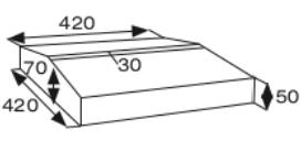 Wymiary daszek dwuspadowy gładki CJ BLOK DB-42