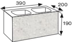 Wymiary pustaka łupanego CJ BLOK PBE-19-2