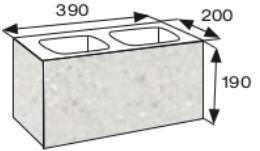 Wymiary pustaka łupanego CJ BLOK PBE-19-4