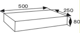 Wymiary płyty betonowej elewacyjnej CJ BLOK PBE-50/25 gładka