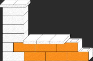 Element muru pustak ogrodzeniowy CJ BLOK PBE-19-2 dwustronnie łupany podmurówka