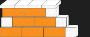 Element muru pustak oporowy CJ BLOK PBO-25-P jednostronnie łupany